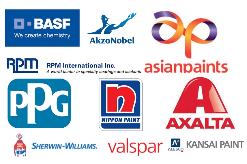 Logos of The top 10 coating manufacturers worldwide