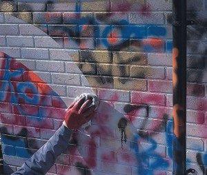 Hot water and soap are enough for removing graffiti from anti graffiti coating surface.
