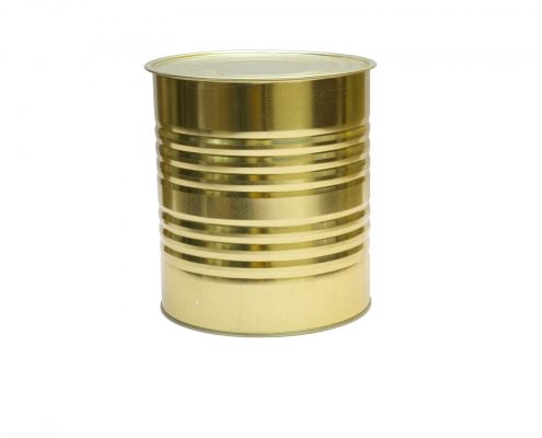 an aluminium can with packaging coatings for metal